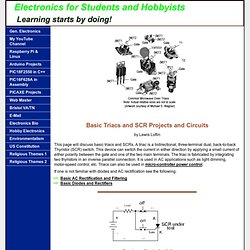Basic Triac and SCR Projects and Circuits