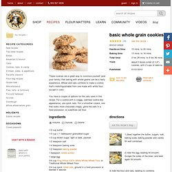 Basic Whole Grain Cookies