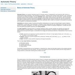 Basics of Automata Theory