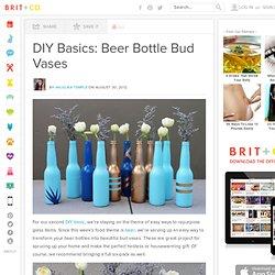 DIY Basics: Beer Bottle Bud Vases