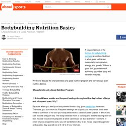 The Basics of Bodybuilding Nutrition