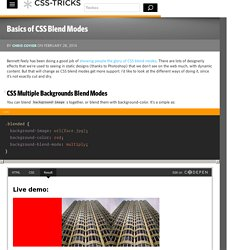 Basics of CSS Blend Modes