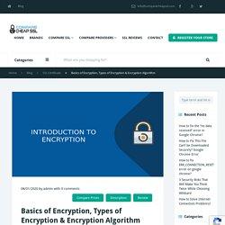 Basics of Encryption, Types of Encryption & Encryption Algorithm