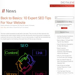 Back to Basics: 10 Expert SEO Tips For Your Website - Digital Eye Media