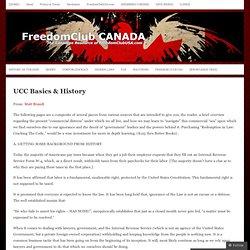 UCC Basics & History