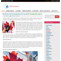The Basics About Immigrating To Canada