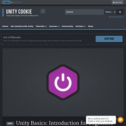 Unity Basics: Introduction for Beginners - Unity Cookie