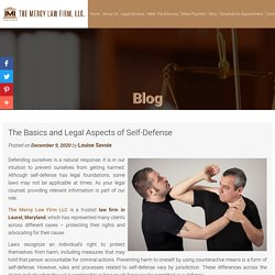 The Basics and Legal Aspects of Self-Defense