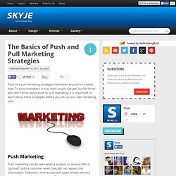 The Basics of Push and Pull Marketing Strategies