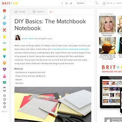 DIY Basics: The Matchbook Notebook