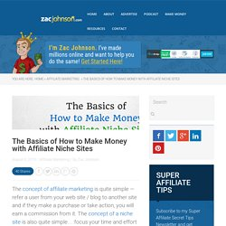 The Basics of How to Make Money with Affiliate Niche Sites