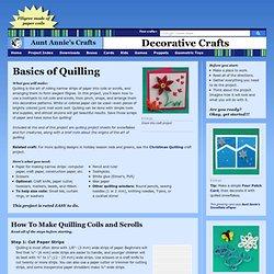 Basics of Quilling - Decorative Crafts