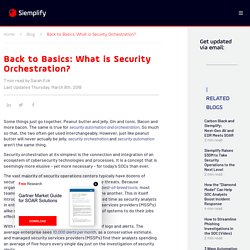Back to Basics: What is Security Orchestration?