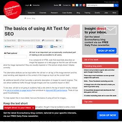 The basics of using Alt Text for SEO