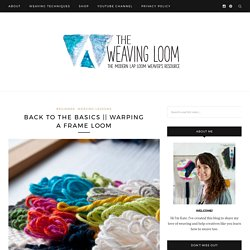 Warping a frame loom