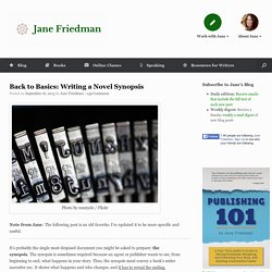 Back to Basics: Writing a Novel Synopsis