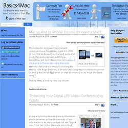 Basics4Mac - Your Personal Mac Guide - Tips & Live Help