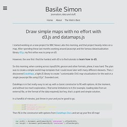 Draw simple maps with no effort with d3.js and datamaps.js