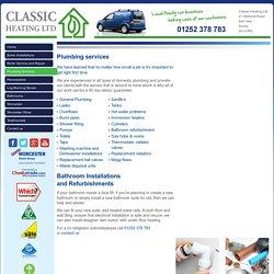 Plumbers Ash Vale, Plumbing Services Basingstoke, Sandhurst, Crowthorne, Wokingham