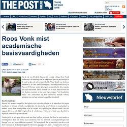 DeJaap: Roos Vonk mist academische basisvaardigheden