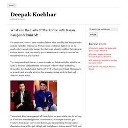What's in the basket? The Koffee with Karan hamper debunked!