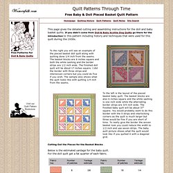 Free Basket Baby & Doll Quilt Pattern Instructions