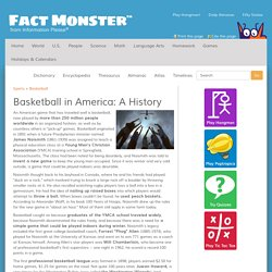 Basketball in America: A History