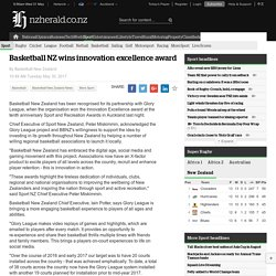 Basketball NZ wins innovation excellence award - NZ Herald