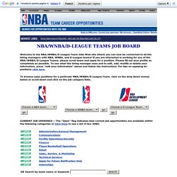 Basketball Jobs : The Official NBA Team Jobs Board