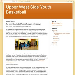 Upper West Side Youth Basketball: Top Youth Basketball Teams Program in Brooklyn