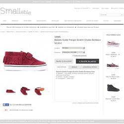 Baskets Suède Franges Scratch Chukka Bordeaux Vans - Chaussures Enfant