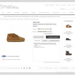 Baskets Suède Lacets Start Desert Camel Pom d'Api - Chaussures Enfant