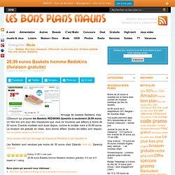 PROMO Baskets REDSKINS à seulement 28,99 euros