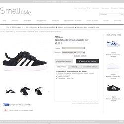 Baskets Suède Scratchs Gazelle Noir Adidas - Chaussures Enfant