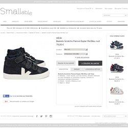 Baskets Scratchs Flannel Esplar Mid Bleu nuit Veja - Chaussures Enfant