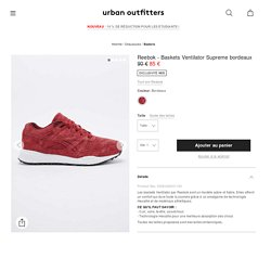 Reebok - Baskets Ventilator Supreme bordeaux