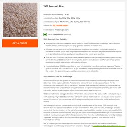 Buy Bulk 1509 Basmati Rice Online Directly From Mills At Best Price