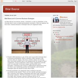 Bilal Basrai: Bilal Basrai and 4 Common Business Strategies