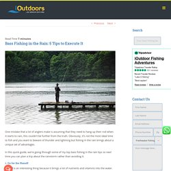 Bass Fishing in the Rain: A Better Time than You Think