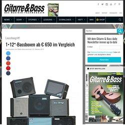 1×12″-Bassboxen ab € 650 im Vergleich › GITARRE & BASS