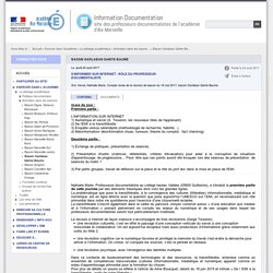 S'INFORMER SUR INTERNET : RÔLE DU PROFESSEUR-DOCUMENTALISTE