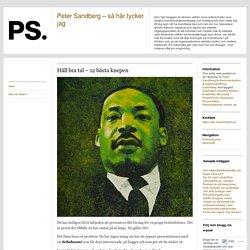 Peter Sandberg - så här tycker jag
