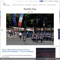 Official website for tourism in France