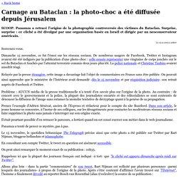 » Carnage au Bataclan : la photo-choc a été diffusée depuis Jérusalem