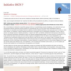 Bataille et l'énergie « Initiative ISCN ?