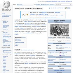 Bataille de Fort William Henry