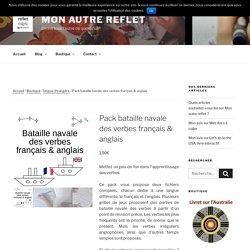 Pack bataille navale des verbes français & anglais - Mon autre reflet