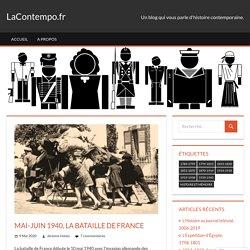 Mai-juin 1940, la bataille de France – LaContempo.fr