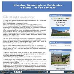 28 juillet 1488, Bataille de Saint Aubin du Cormier - Histoire et généalogie à Plœuc