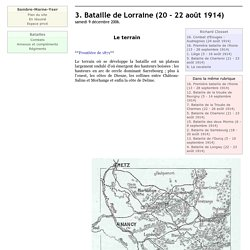 3. Bataille de Lorraine (20 - 22 août 1914)